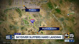Skydiver injured after parachute malfunction at Skydive Arizona - Video