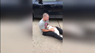 Soldier reunited with dog after six months away