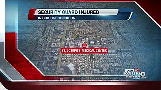 Security guard in critical condition after being hit by car at St. Joseph's Hospital - Video