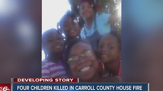 4 young sisters killed, 3 adults injured in Carroll County house fire - Video