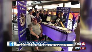 Hooters honor The Military Order of the Purple Heart - Video