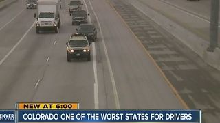 Colorado, one of the worst states for drivers - Video