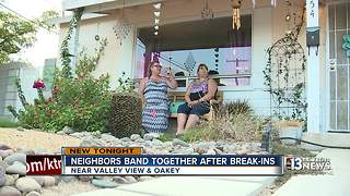 Neighbors stand up against burglars terrorizing community - Video