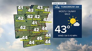 Mostly sunny and breezy Thursday