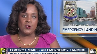 Police helicopter makes emergency landing - Video