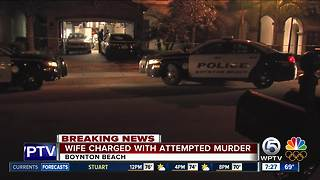 Boynton Beach wife charged with attempted murder after husband shot - Video