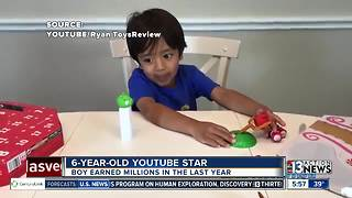6-year-old boy making millions reviewing toys - Video