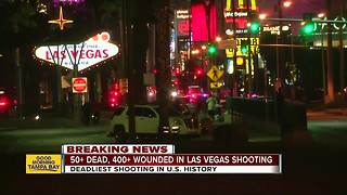 Shooting on Las Vegas Strip kills at least 50, more than 400 hurt - Video