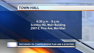 HAPPENING TODAY: Meridian Town Hall meeting to discuss comprehensive plan, e-scooters