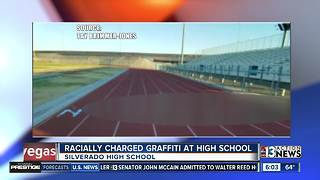 Racial slur graffitied on high school track - Video