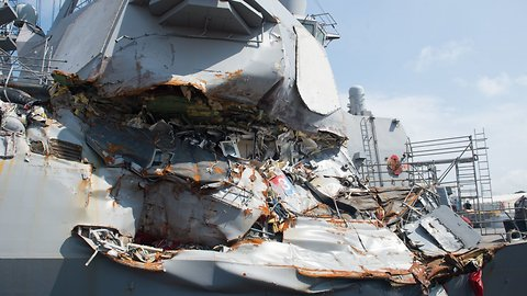 Navy Charges 2 Commanders After Pacific Ship Crashes