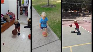 2-year-old displays jaw-dropping dribbling skills - Video