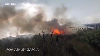 Video shows Aeromexico plane crash
