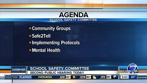 School Safety Committee holds second hearing today