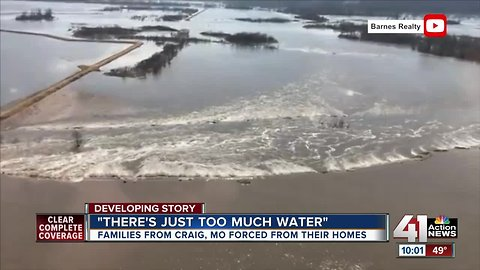 Families forced from homes as floodwaters rise