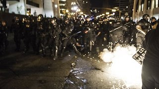 Tear Gas Reportedly Deployed During Portland Trump Rally - Video