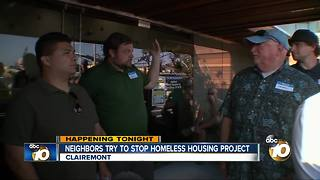 Neighbors try to stop homeless housing project - Video