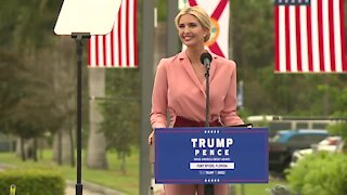 Ivanka Trump speaks at a 'Make America Great Again!' event in Fort Myers