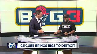 Ice Cube joins WXYZ Channel 7 to talk Big3 Basketball in Detroit - Video