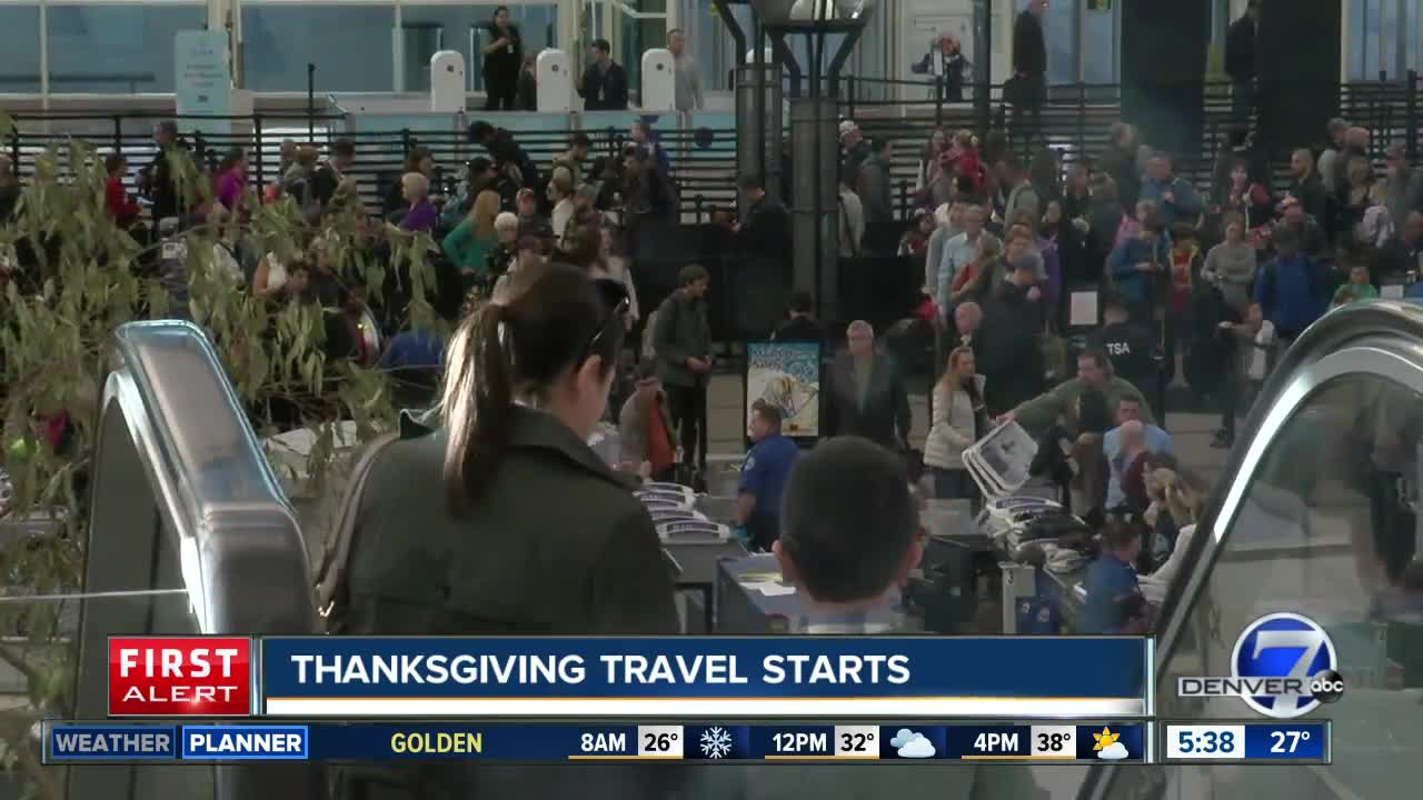 Thanksgiving travel period starts today