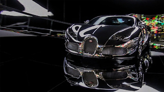 Silver-coated Bugatti Veyron Chrome - Video