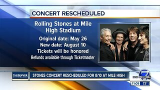 Rolling Stones announce new date for Denver tour stop
