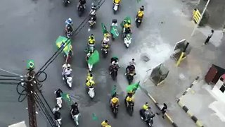 Brazil Fans Take Over Streets of Tripoli Before World Cup Match Against Belgium - Video