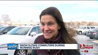Snow, ice slow commuters during morning rush