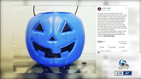 Palm Beach School of Autism helping children with autism prepare for Halloween