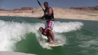 """""""Father and Daughter Wakeboarding Fun"""""""