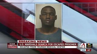 US Marshals search KC area for escaped federal prisoner - Video