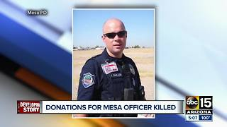 GoFundMe set up for Mesa officer killed in crash - Video