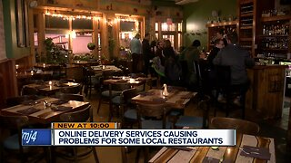 Some local restaurants are being added to online delivery sites and they're not happy about it