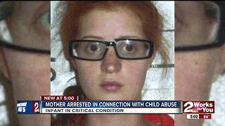 Mother arrested in connection with Muskogee child abuse case, infant in critical condition - Video