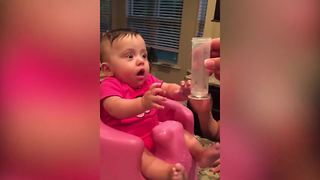 Funny Thirsty Baby Girl - Video