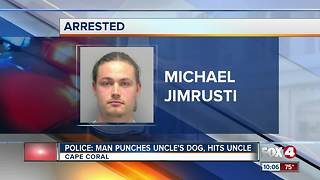 Man arrested for hitting uncle and dog during argument