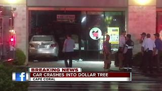 car crashes into Dollar Tree - Video