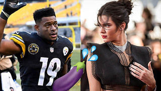 JuJu Smith Schuster Shamelessly Shoots His Shot with Kendall Jenner During the Super Bowl - Video