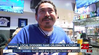 Dodger Fans Celebrate Game 6 Victory - Video
