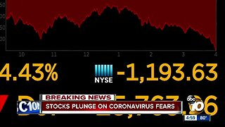 Virus anxiety triggers Dow's biggest 1-day drop ever