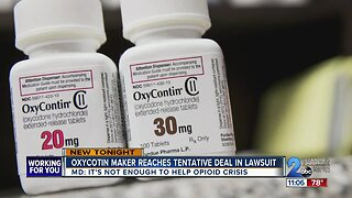 Maryland attorney general doesn't support opioid settlement