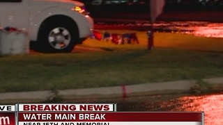 Memorial Closed Due To Water Main Break - Video