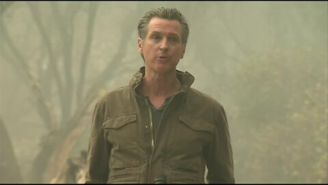 Governor Gavin Newsom tours wildfire damage