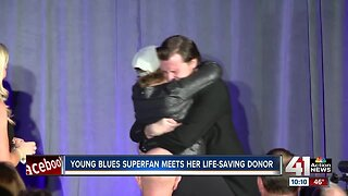 Lawrence teen bone marrow donor matches with Blues super fan