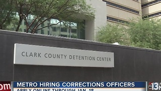 Las Vegas police hiring corrections officers