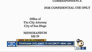 San Diego Councilman Leaked SoccerCity Memo - Video