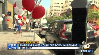 More bike lanes could cut down on Hillcrest parking - Video