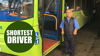 World's shortest bus driver at 4ft 6inches! - Video