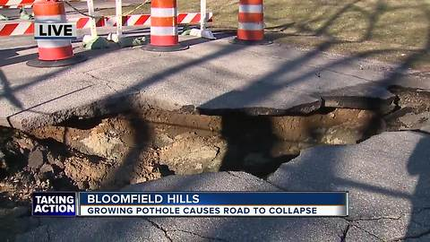 Bloomfield Hills road collapse