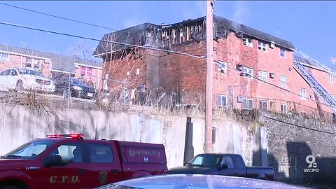 Large fire at East Price Hill apartments displaces tenants